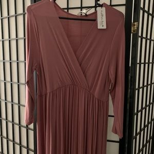 Mother Bee Maternity Dress-Mauve